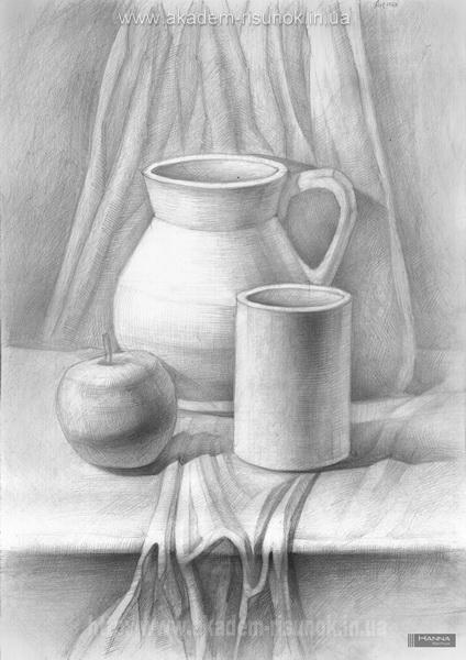 композиции рисунка натюрморта